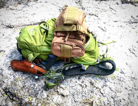 Osprey Pack - .357 - carry - park carry - national park - Smith and Wesson - Smith & Wesson - Medic Kit - Hiking Pack - Hike