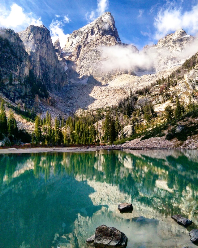 Landscape - Hike - Hiking - Scrambling - Grand Teton - National Park - Mountain - Mountains - Delta Lake - Lake - Glacial Lake - Turquoise - Water
